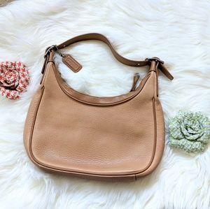 Coach tan leather bag
